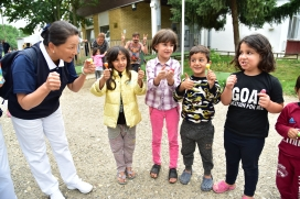 20180905 塞國第二場難民學童文具發放-普林斯博瓦其